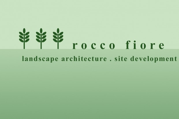 rocco fiore & sons logo huge against the soft green gradient background designed by 4d, inc for the website
